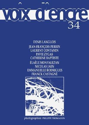 revue Voix d'encre, numéro 34 - 1