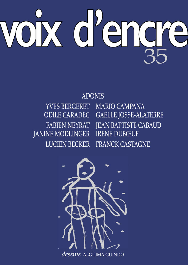 revue Voix d'encre, numéro 35