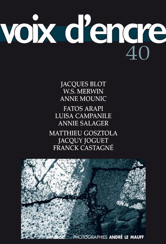 revue Voix d'encre, numéro 40 - 1