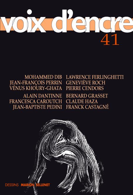 revue Voix d'encre, numéro 41 - 1