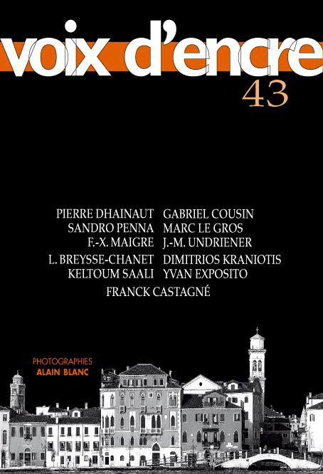 revue Voix d'encre, numéro 43