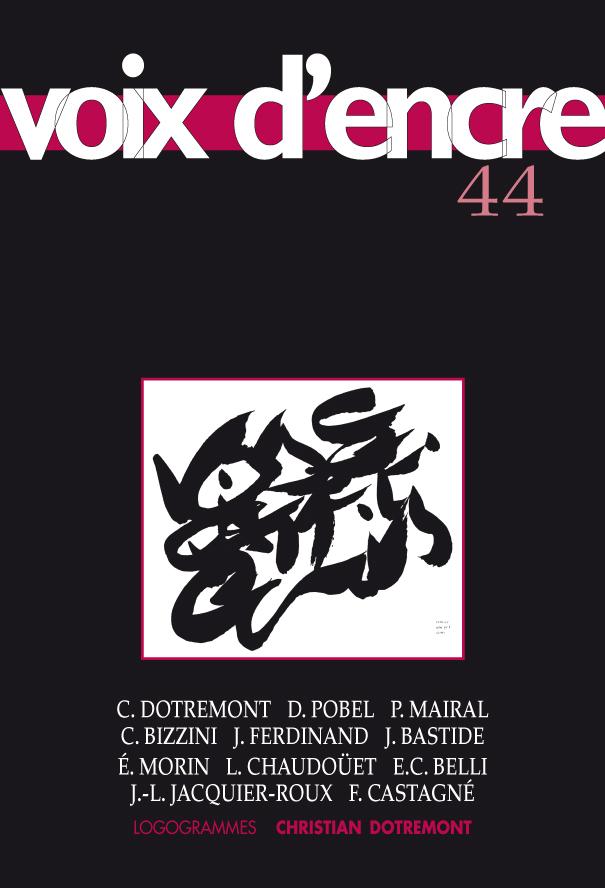 revue Voix d'encre, numéro 44 - 1