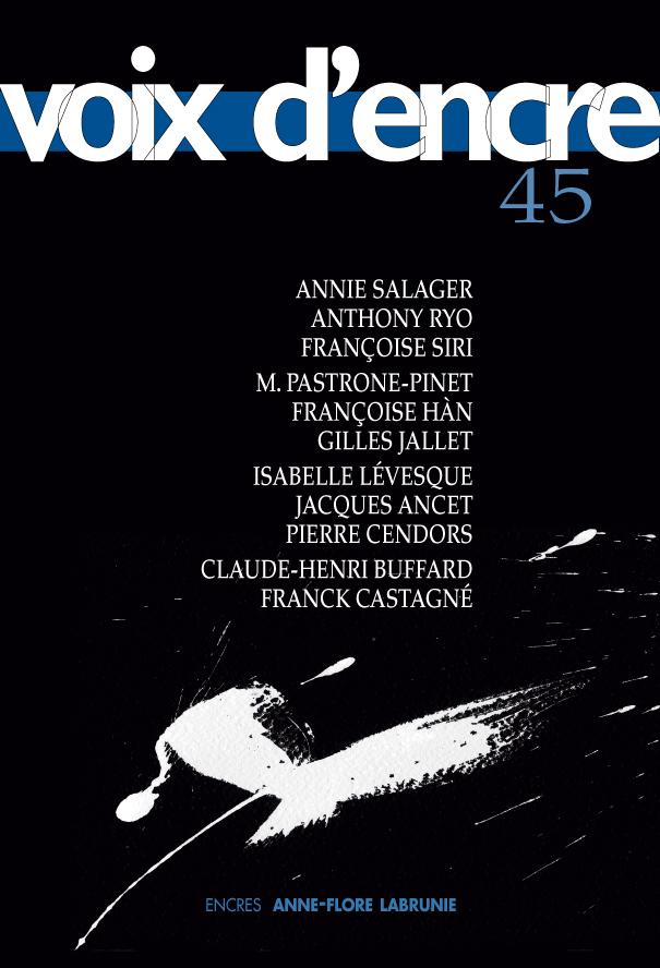 revue Voix d'encre, numéro 45 - 1