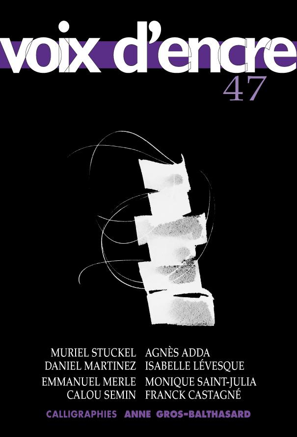 revue Voix d'encre, numéro 47 - 1