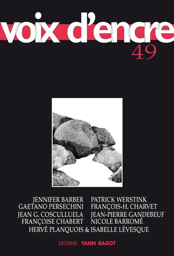 revue Voix d'encre, numéro 49 - 1