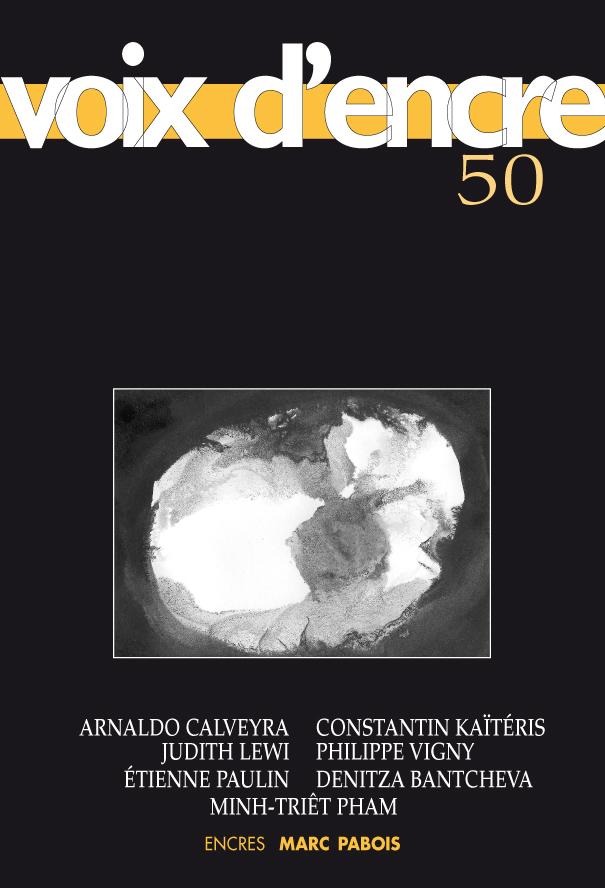 revue Voix d'encre, numéro 50 - 1