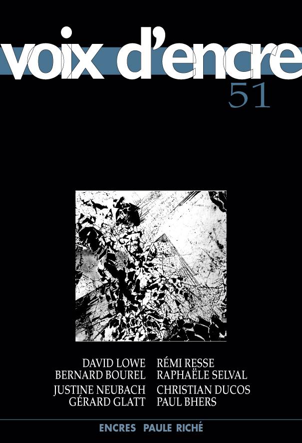 revue Voix d'encre, numéro 51 - 1