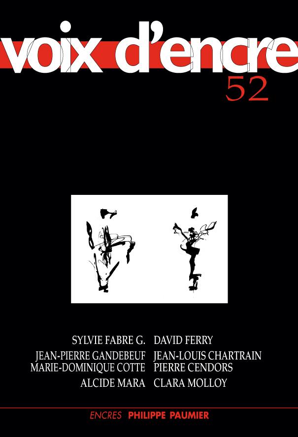 revue Voix d'encre, numéro 52 - 1