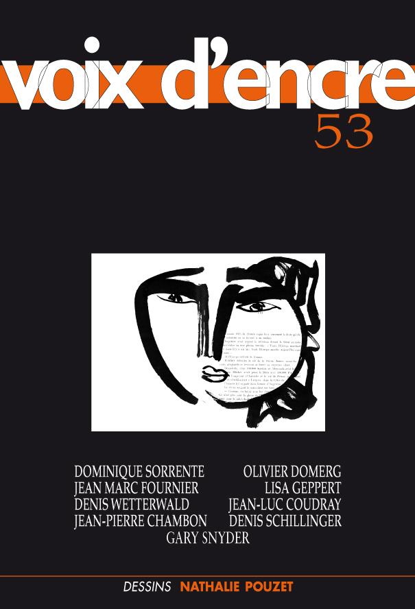 revue Voix d'encre, numéro 53 - 1