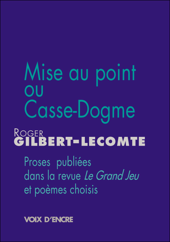 Mise au point ou Casse-Dogme - 1