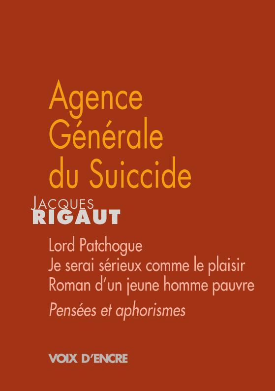 Agence Générale du Suicide - 1