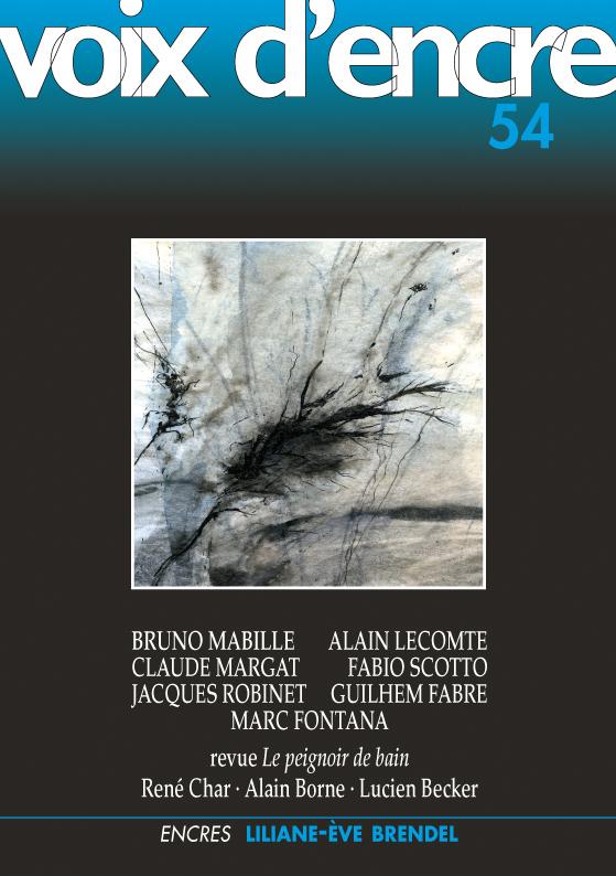 revue Voix d'encre, numéro 54 - 1
