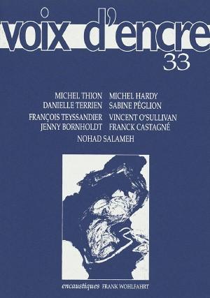revue Voix d'encre, numéro 33 - 1