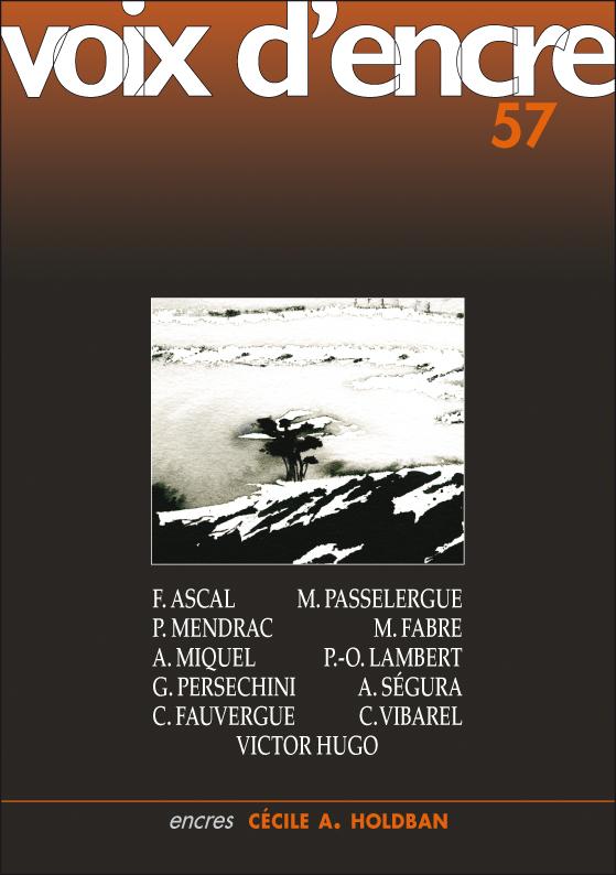 revue Voix d'encre, numéro 57 - 1