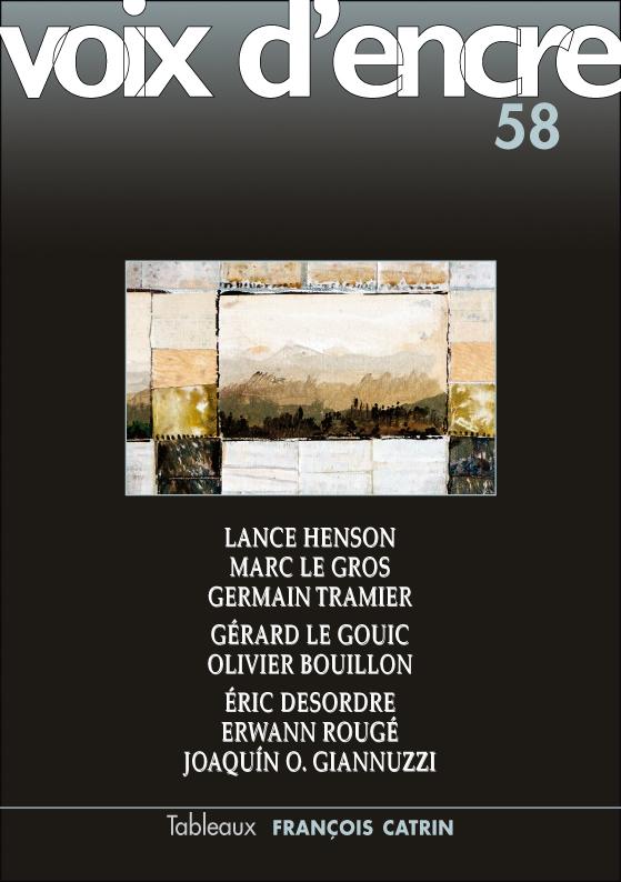 revue Voix d'encre, numéro 58 - 1