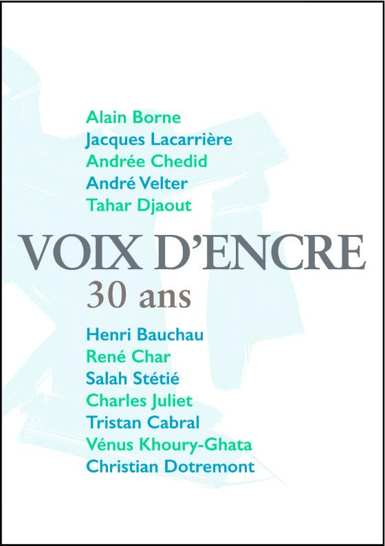 VOIX D'ENCRE, 30 ans - 1