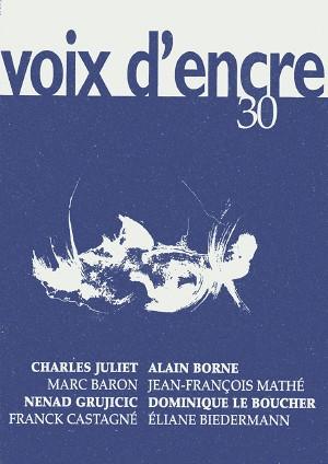 revue Voix d'encre, numéro 30 - 1